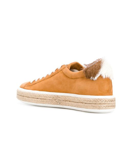 espadrille lace-up sneakers - Yellow & Orange Mr & Mrs Italy 5re98