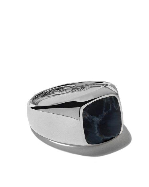David Yurman - Metallic Exotic Stone Pietersite Signet Ring for Men - Lyst