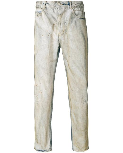 Golden Goose Deluxe Brand - Blue Distressed Slim-fit Jeans for Men - Lyst