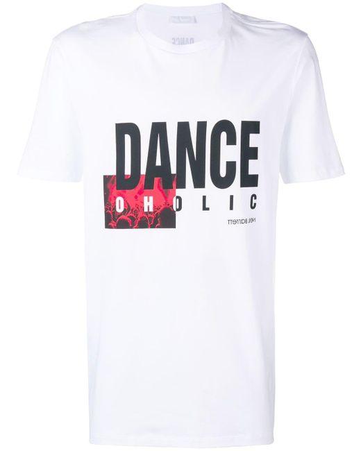 Neil Barrett - White 'Danceholic' T-Shirt for Men - Lyst