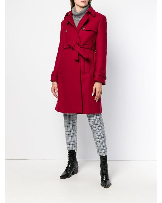 Buy Cheap Discounts Free Shipping Purchase belted empire line coat Red Valentino Choice Cheap Price Cheap Sale Purchase Under 50 Dollars b8J6bc