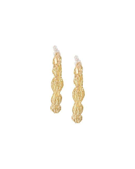 Wouters & Hendrix - Metallic 18kt Yellow Gold Sculpted Hoop Earrings - Lyst