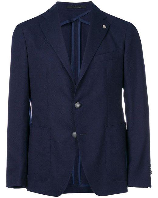 Tagliatore - Blue Classic Blazer for Men - Lyst