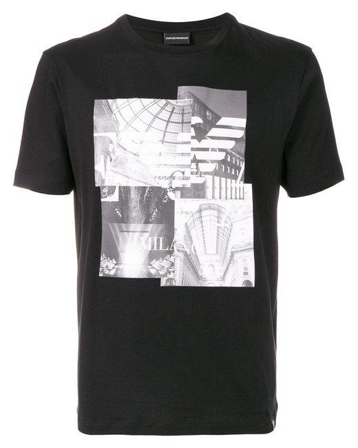 Emporio Armani   Black Cotton T-shirt for Men   Lyst