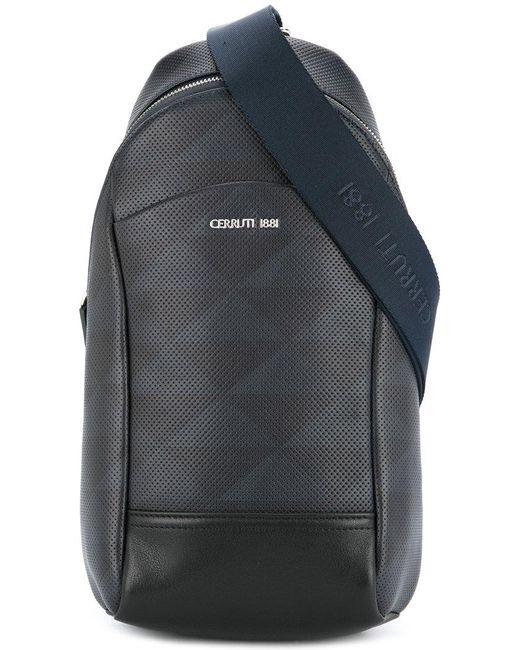 Cerruti 1881 - Black Perforated Single Strap Backpack for Men - Lyst