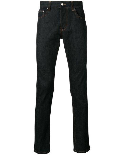 AMI   Blue Slim Fit 5 Pocket Jeans for Men   Lyst