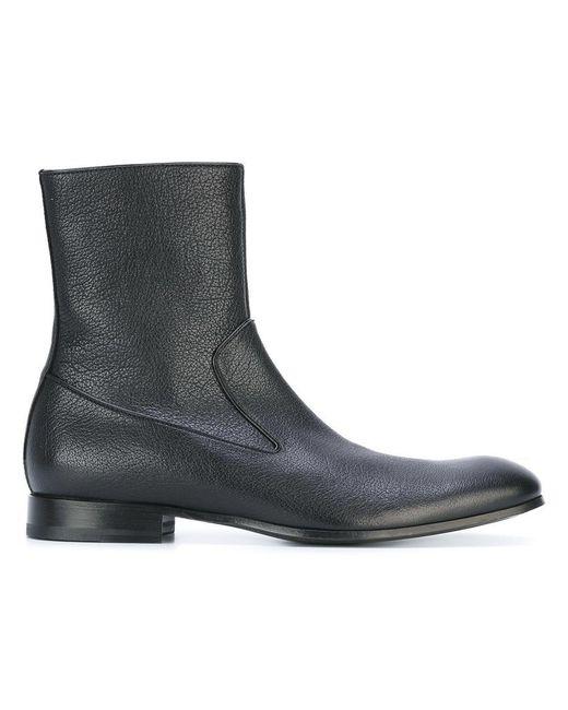Alexander McQueen | Black Leather Booties | Lyst