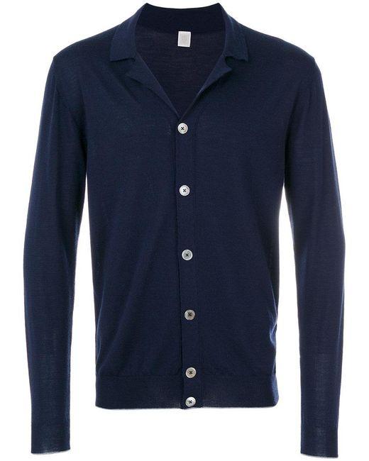 Eleventy | Blue Classic Collar Cardigan for Men | Lyst