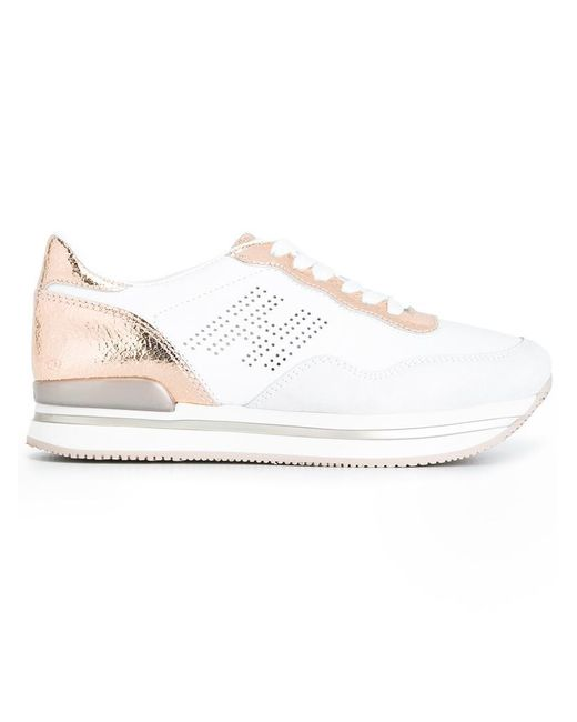 Hogan | White Panelled Sneakers | Lyst