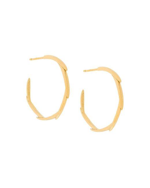 Niomo - Metallic Brahea Small Hoop Earrings - Lyst