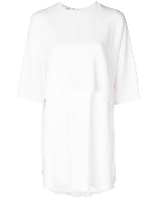 Stella McCartney   White Georgia Mini Dress   Lyst