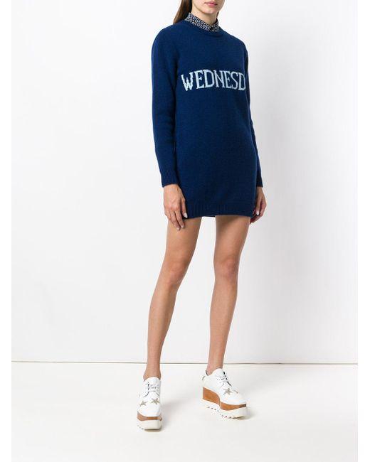 Wednesday sweater dress - Blue Alberta Ferretti 1BhZ2