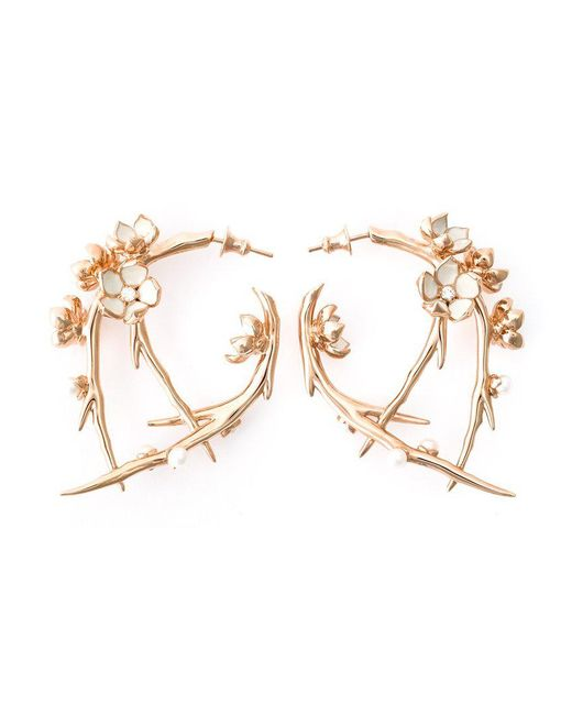 Shaun Leane | Pink 'cherry Blossom' Diamond Earrings | Lyst