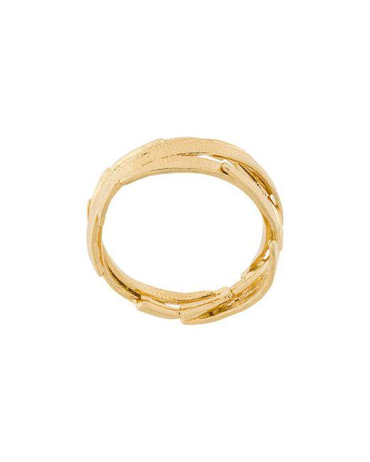 Wouters & Hendrix - Metallic Bamboo Leaf Ring - Lyst
