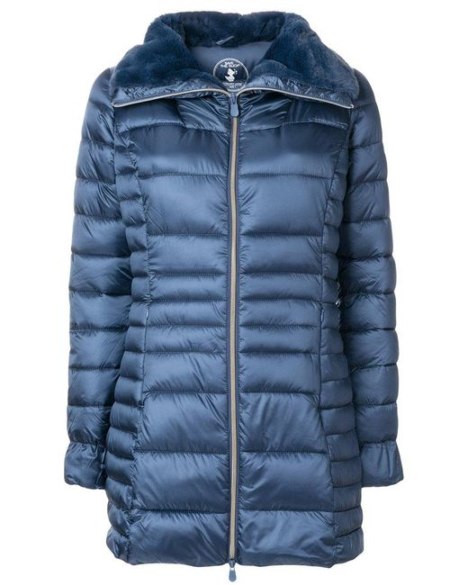 Save The Duck   Blue Padded Coat   Lyst
