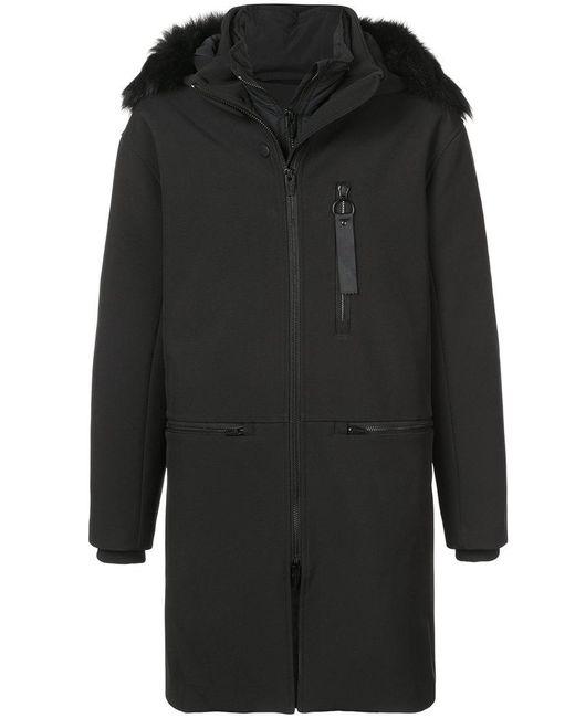 The Arrivals - Black Halstrøm Iii Parka Coat for Men - Lyst