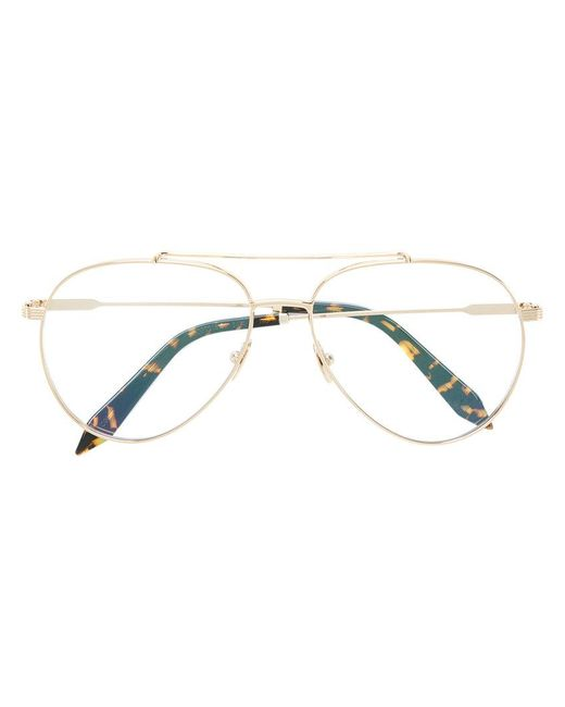 Victoria Beckham - Metallic Aviator Glasses - Lyst