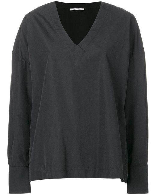 Purchase Your Favorite  Barena oversized v-neck top Discounts Cheap Online ehDhx2