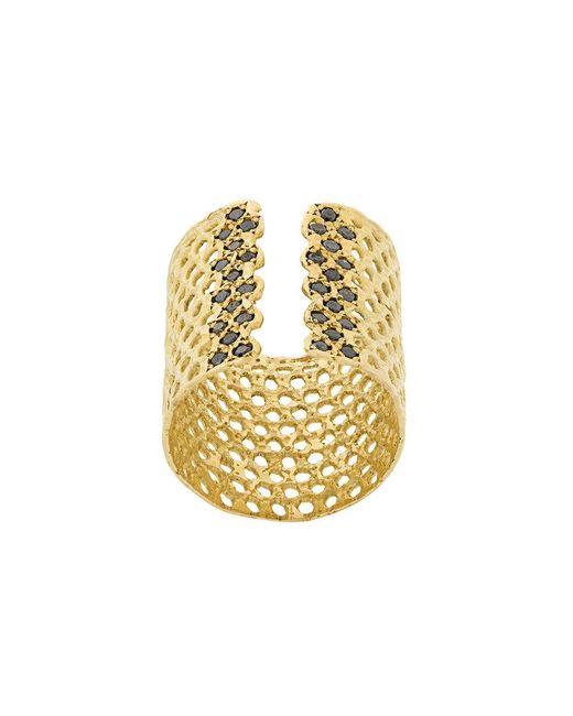 Lara Melchior - Metallic Cuff Ring - Lyst