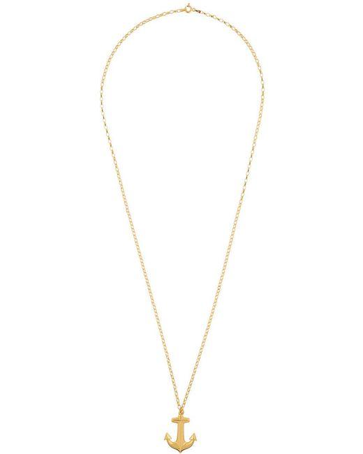 True Rocks - Metallic Anchor Necklace - Lyst