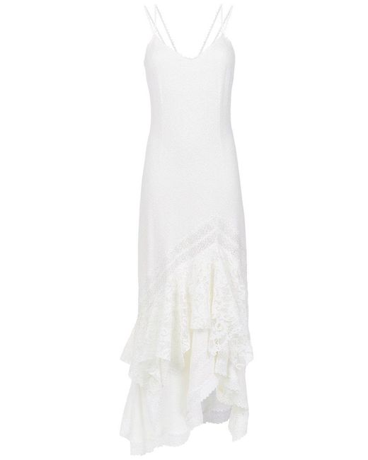 Martha Medeiros - White Lace Inserts Gown - Lyst
