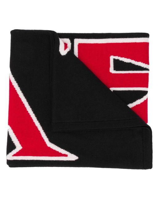 Écharpe à logo intarsia Fendi pour homme en coloris Black