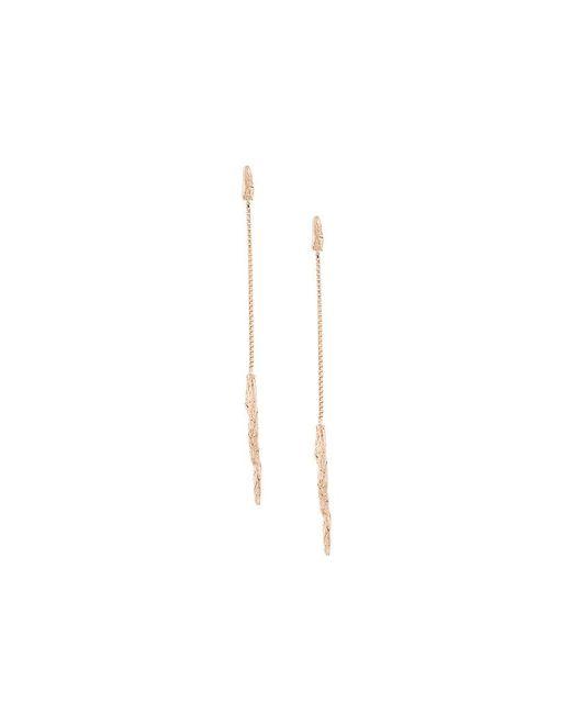 Niza Huang - Metallic Illusion Long Drop Earrings - Lyst