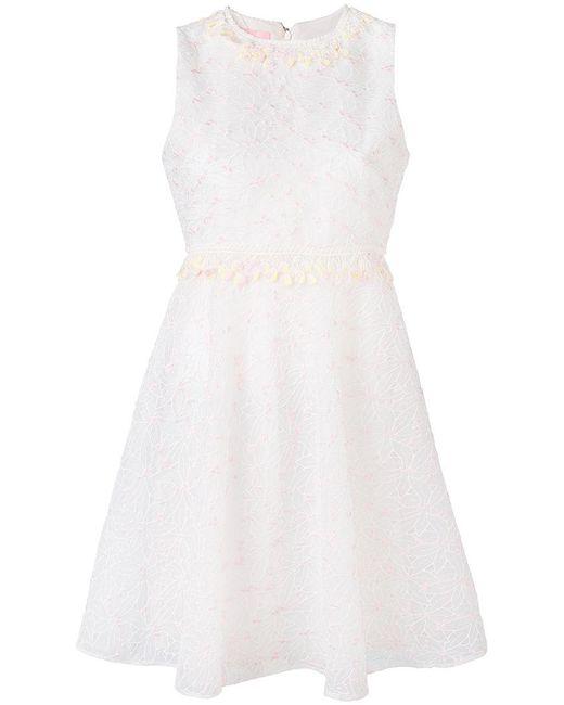 Giamba - White Floral Embroidery Dress - Lyst