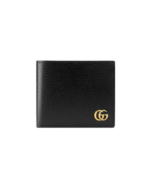 Gucci - Black GG Marmont Leather Coin Wallet for Men - Lyst