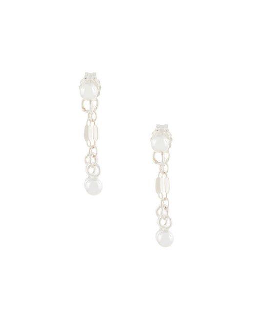 Petite Grand - Metallic Little Double Drop Earrings - Lyst