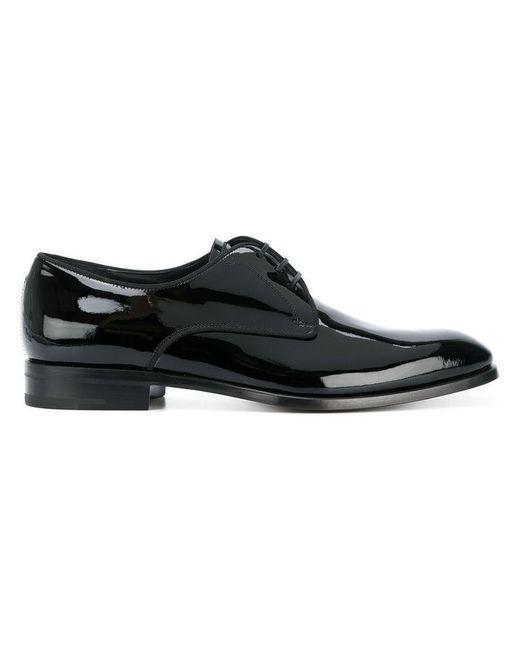 Ferragamo - Black Derby-Schuhe in Lackoptik for Men - Lyst