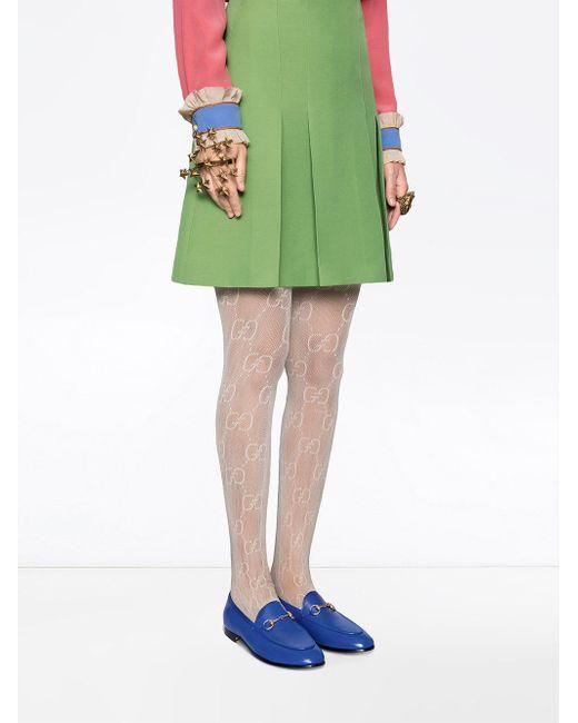 af742f762 Gucci Jordaan Leather Loafer in Blue - Save 32% - Lyst