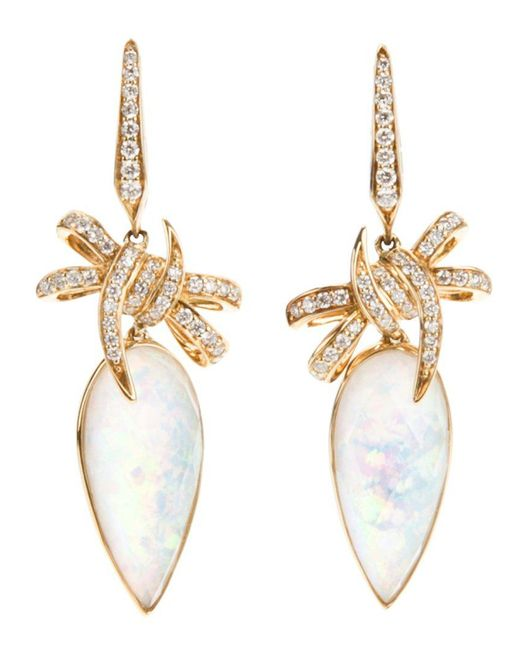Stephen Webster | Yellow 'forget Me Knot' Quartz And Diamond Bow Earrings | Lyst