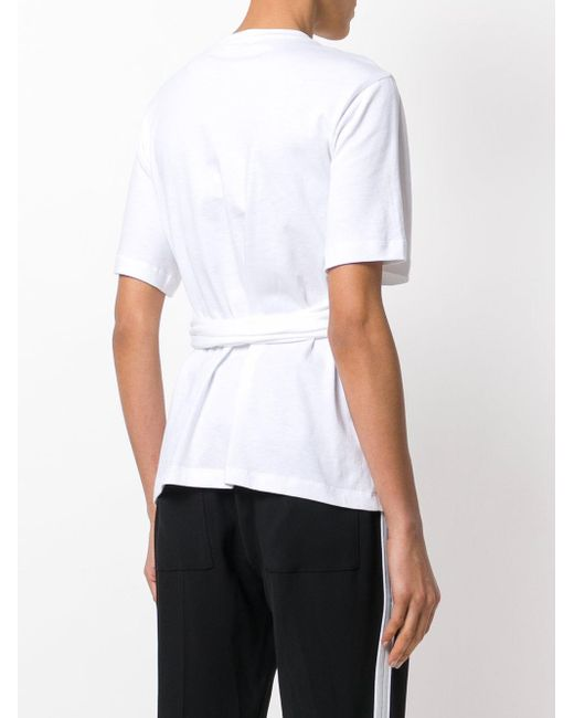 Factory Outlet Online Short sleeve tied T-shirt - Black Proenza Schouler Pay With Visa Cheap Online Cheap Sale Enjoy 2018 Newest Cheap Online Shop Offer Cheap Online 2DlezIYSR