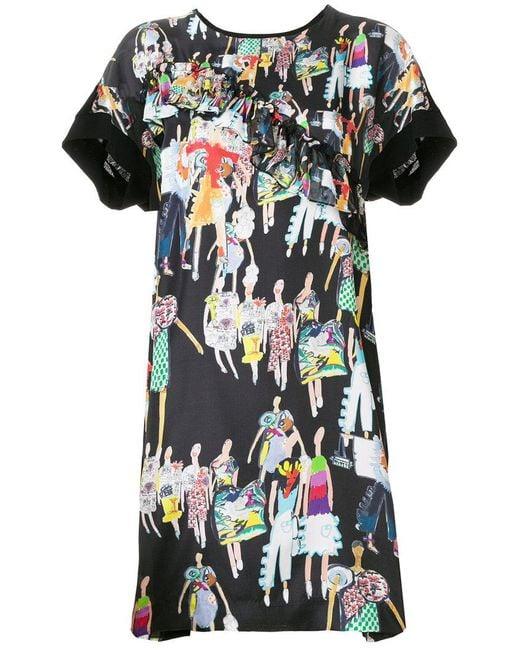 Tsumori Chisato - Black Fashion Model Print Dress - Lyst