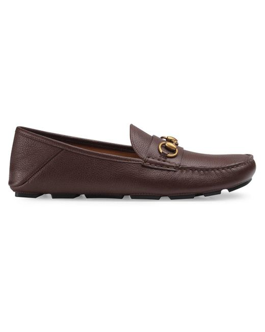 Gucci - Brown Loafer mit Horsebit-Spange for Men - Lyst