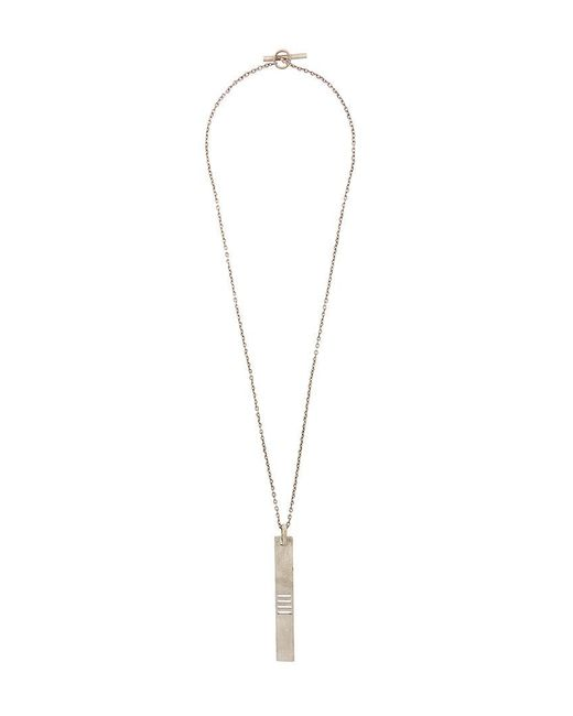 Parts Of 4 - Metallic Plate Necklace for Men - Lyst