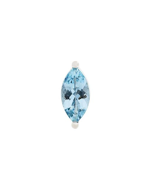 Delfina Delettrez - Blue Dots Solitaire Aquamarine And Pearl Earring - Lyst