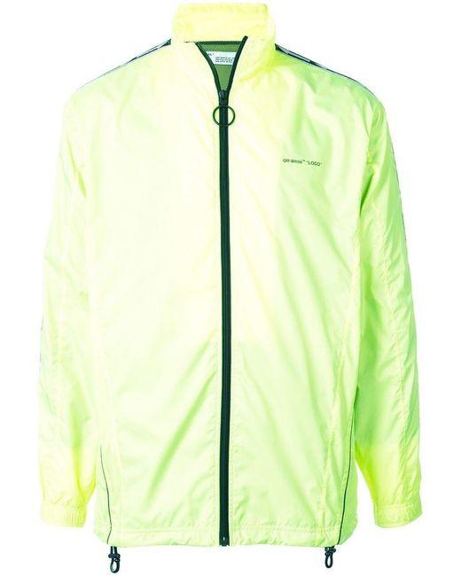 f999443c5f5c Lyst - Off-White c o Virgil Abloh Logo Stripe Zip-up Jacket in ...