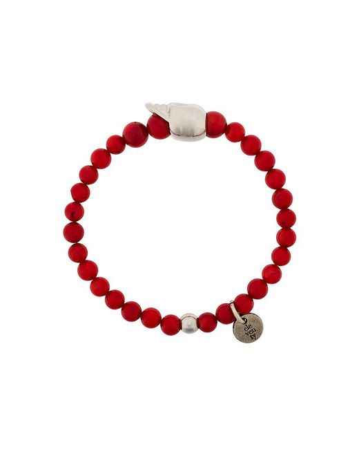 Eleventy - Red Beads Charm Bracelet for Men - Lyst