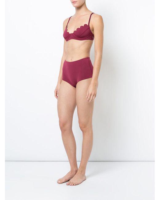 parte Lyst Cynthia inferior Bikini de de con alta cintura Rowley bikini UYvUw7