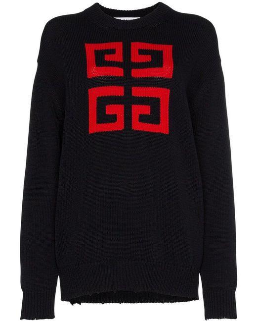 Givenchy - Black 4g Emblem Jumper - Lyst