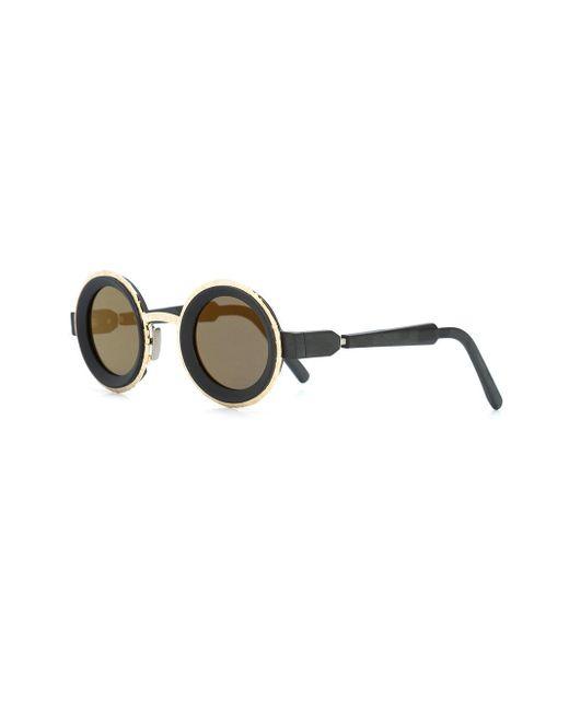 52bf024c72 ... Kuboraum - Black Round Frame Sunglasses - Lyst ...