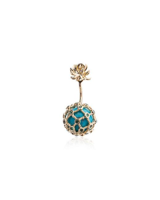 Yvonne Léon - Metallic Turquoise Mini Pineapple Gold Earring - Lyst