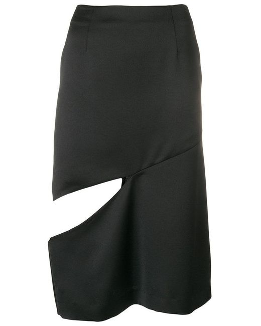 Maison Margiela - Black Cut Out Skirt - Lyst