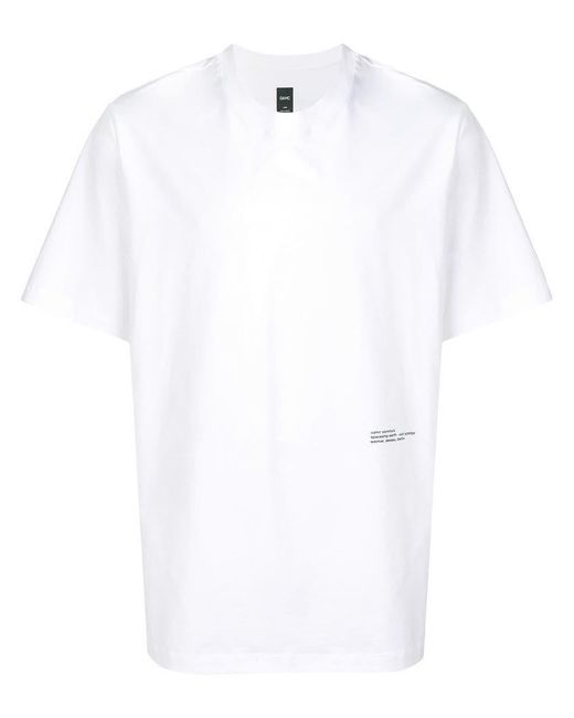 9f81f350c6c0e Lyst - OAMC Cotton T-shirt in White for Men - Save 17%