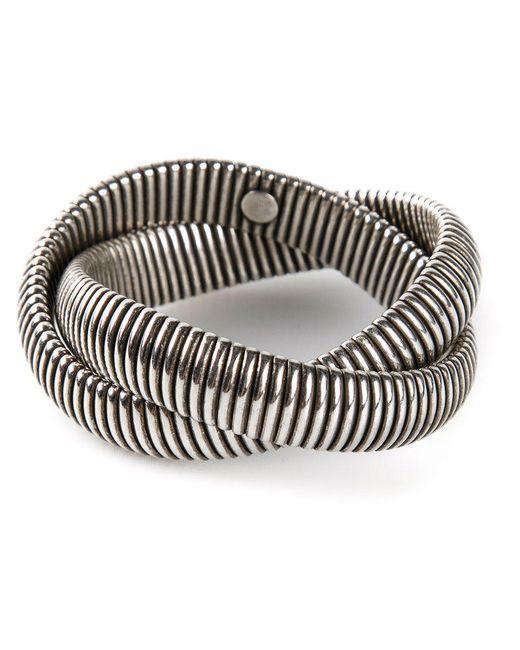Janis Savitt - Metallic Twist 'cobra' Bracelet - Lyst