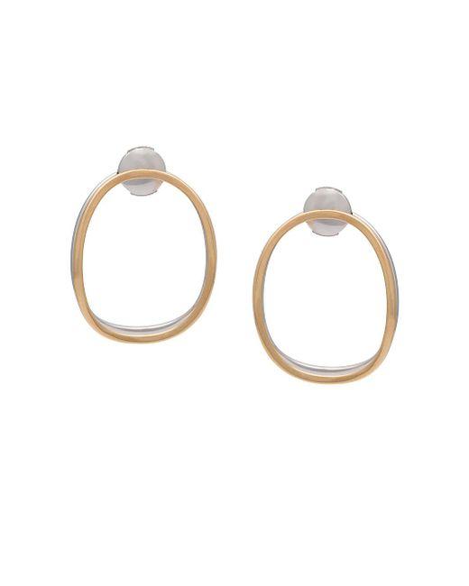 Delfina Delettrez Metallic Double Oval Earring