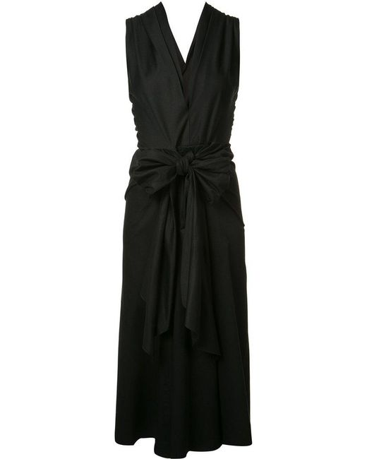 TOME - Black Bow Front Dress - Lyst