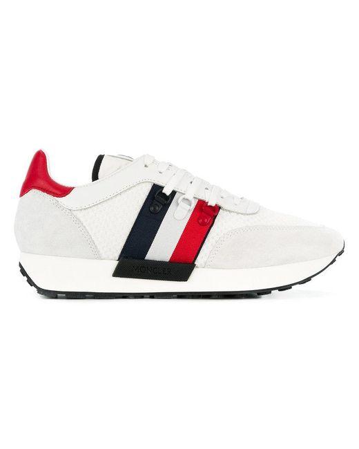 880d94106 Lyst - Moncler Logo Sneakers in White for Men